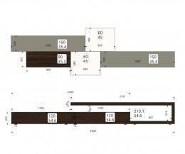 Design Wohnwand L5C31 Skizze