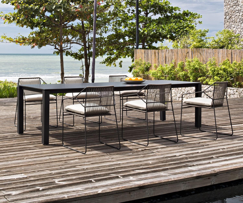 oasiq sandur edelstahl schnur gartenm bel mit polsterung. Black Bedroom Furniture Sets. Home Design Ideas