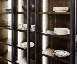 Modernes Design Bücherregal C90 Glastüren Raumteiler mit LED Beleuchtung