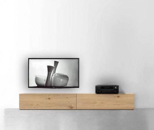 Design TV Schrank  240 cm 32 cm 56 cm Eiche hell