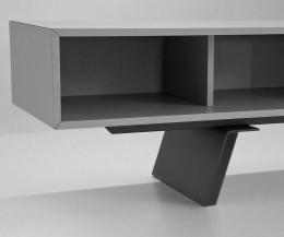 Designer TV Lowboard e-klipse 005 von al2 im Detail das offene Fach