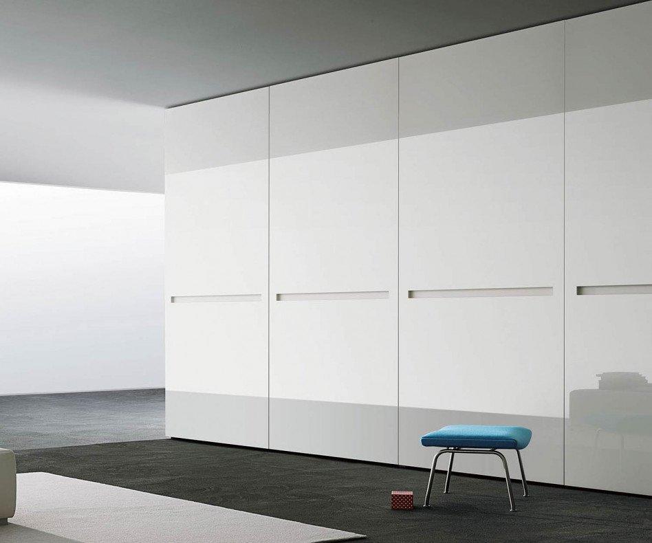 Kleiderschrank Vitro Glasschiebetüren Weiß Hochglanz