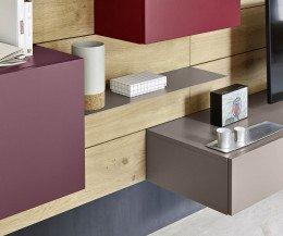 Livitalia Design Wohnwand C37 mit Wandpaneel