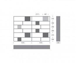 Hochwertiges Livitalia Bücherregal C84 Maße Skizze Größen Größenangaben