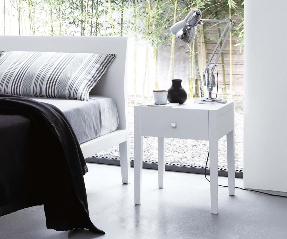 novamobili nachttisch vogue 1 schubladen. Black Bedroom Furniture Sets. Home Design Ideas