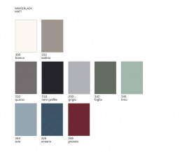 Moderner Novamobili Design Nachttisch Float Farben Farbmuster Lackierung