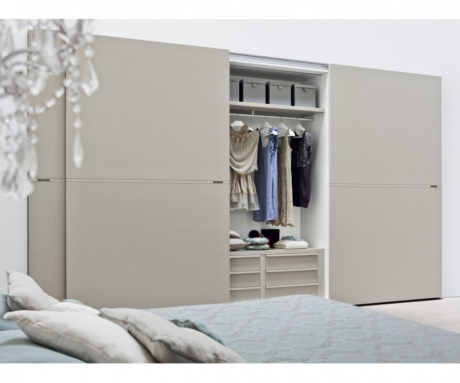 Designer Kleiderschrank Middle Schwarz matt