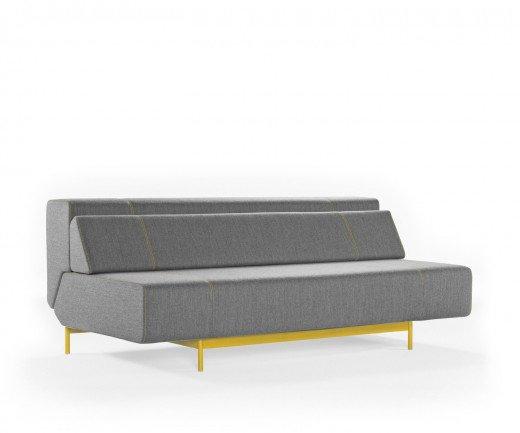 Modernes Prostoria Design Schlafsofa Pil-low mit grauem Bezug