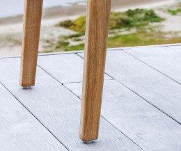 Oasiq Skagen Design Stuhl Stuhlbeine im Detail aus Teakholz