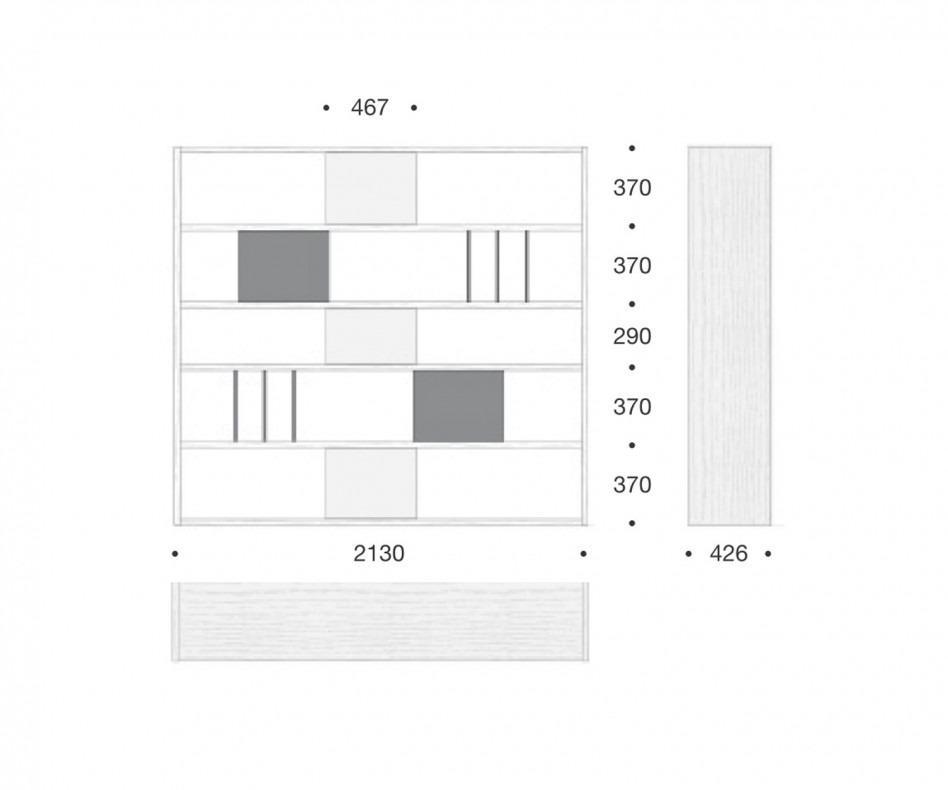 Standregal Raumteiler Weiß C92