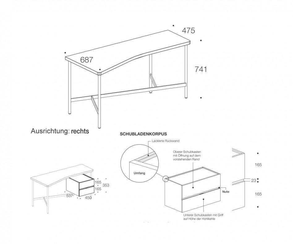 Architekten Schreibtisch Desk