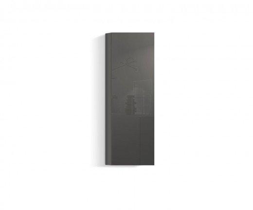 Exklusiver Design Hängeschrank Vertikal in Dunkelgrau Hochglanz