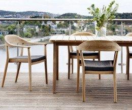 Hochwertiger Oasiq Copenhagen Design Stuhl mit handgewobener Sitzfläche