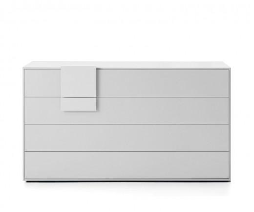 Novamobili Kommode Dotty 4 Schubladen matt weiß