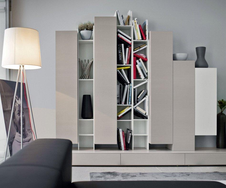 Novamobili Wand- Bücherregal Butterfly Horizontal weiß