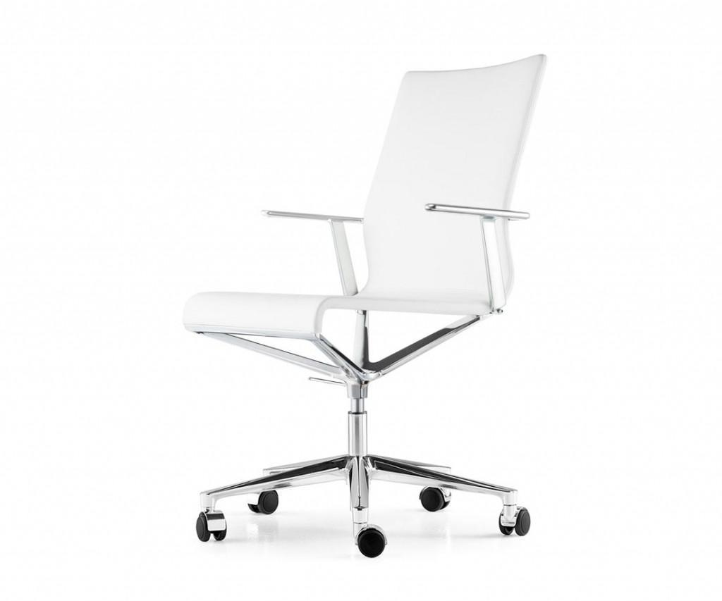 ICF Stick ETK Chair Chrom Aluminium Leder