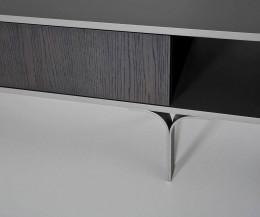 Modernes al2 Designer Lowboard Mobius 005 im Detail Standfuß
