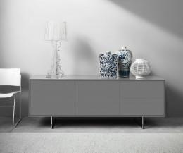 Modernes Novamobili Design Sideboard Schatten 3 mit 2 Schubladen rechts und 2 Türen Hellgrau
