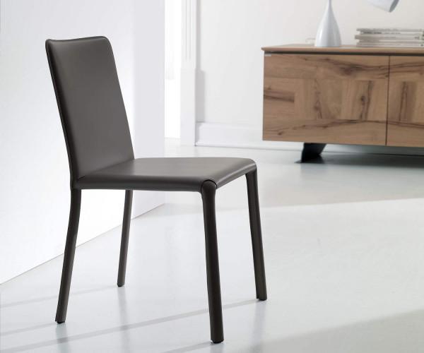 Designer st hle f r esszimmer und wohnzimmer for Lederstuhl schwarz esszimmer