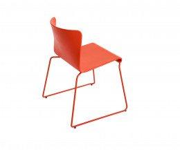 Haus Lisbon Stuhl Chair rot Holz lackiert matt hinten