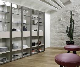 Exklusives Livitalia Design Bücherregal mit Glastüren C63