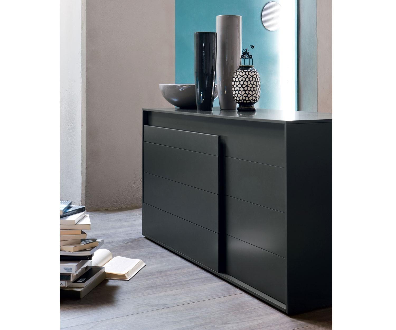 novamobili kommode overlap 4 schubladen matt lackiert. Black Bedroom Furniture Sets. Home Design Ideas