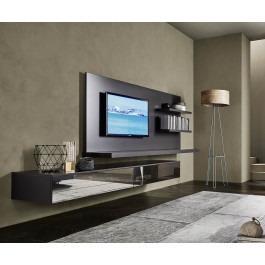 livitalia wohnwand c54 tv paneel und led beleuchtung. Black Bedroom Furniture Sets. Home Design Ideas