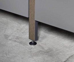 Novamobili Metallregal Pontile Höhenverstellbare Füße