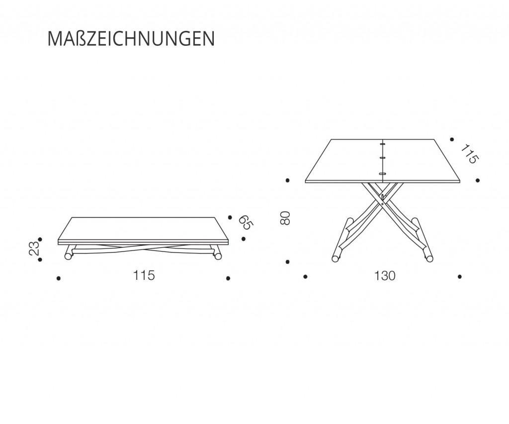Ozzio Mondial Cochtisch T096 mit Keramiktischplatte CC02