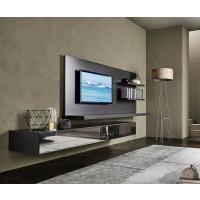 livitalia wohnwand c54 tv paneel und led beleuchtung. Black Bedroom Furniture Sets. Home Design Ideas