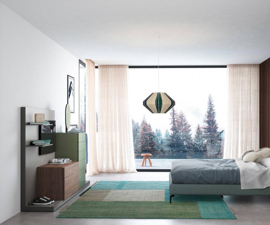 Exklusive Design Kommode Easy 9 mit Garderobe und TV Paneel von Novamobili