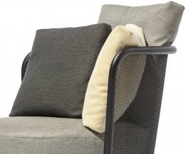 Hochwertiger Todus Baza Round Designer Sessel im Detail Armlehne Stoffbezug