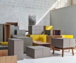 Exklusives Design System Module Zusammenstellung als Gruppe in Zimmeransicht