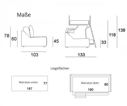 Pol74 Multibed Castello Maße
