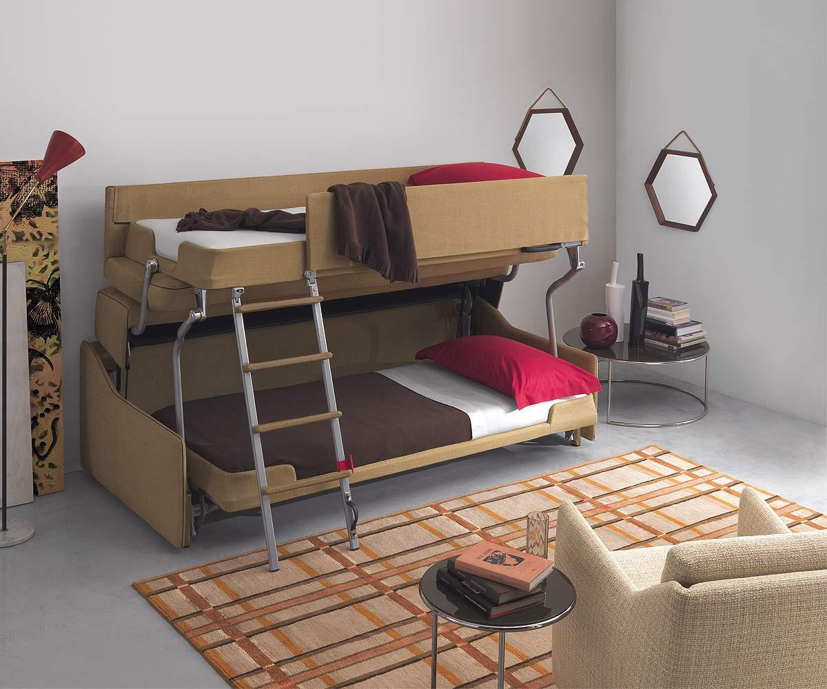 Sofa Zum Etagenbett : Design etagenbett pol74 multibed castello