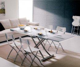 Ozzio Planet Tisch Esstisch ausgeklappt