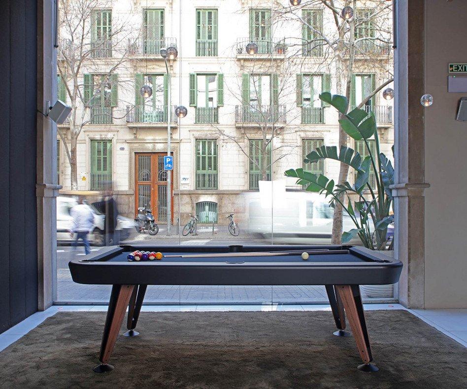 Exklusiver RS Barcelona Design Billardtisch Diagonal