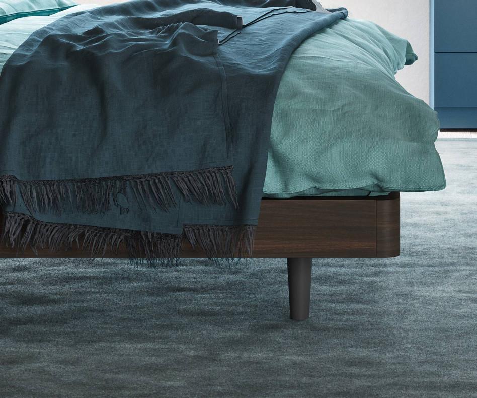 Design Bett Dedalo von Novamobili in Ulme dunkel