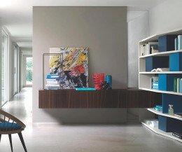 Holz Wand Lowboard 240 cm 32 cm 56 cm Eiche braun