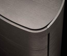Detail Round Design Livitalia Nachttisch Round Tischplatte Eiche Grau