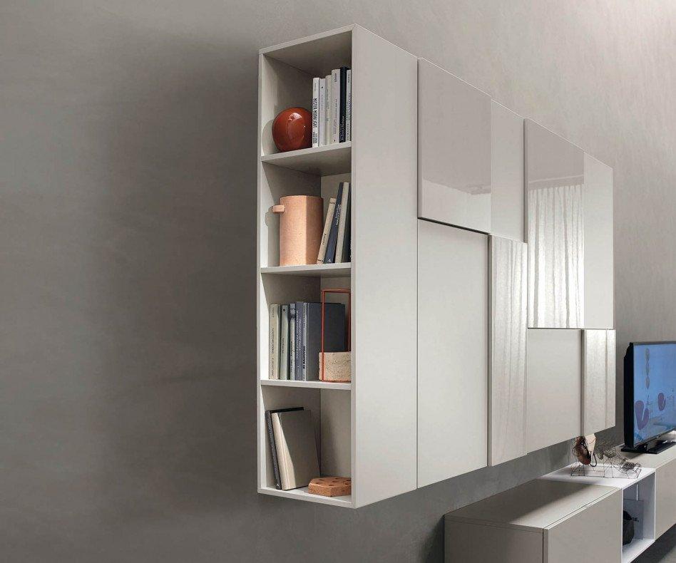 Exklusive hängende Livitalia Design Wohnwand C07