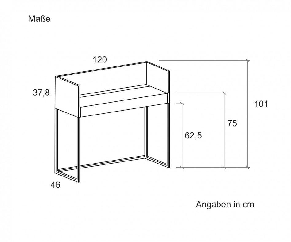 Punt Design Schreibtisch Stockholm Sekretär für die Wandmontage