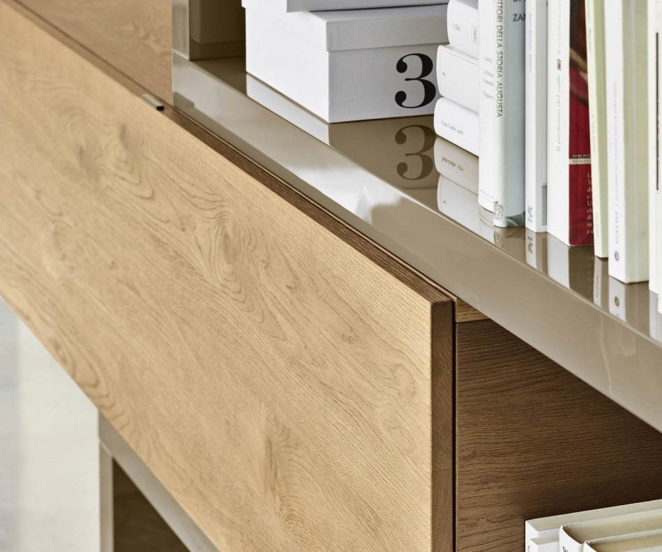 eckwohnwand c29a mit b cherregal und tv halterung. Black Bedroom Furniture Sets. Home Design Ideas