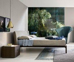 Exklusiver Novamobili Design Nachttisch Quarantacinque 2 Schubladen Eiche dunkel