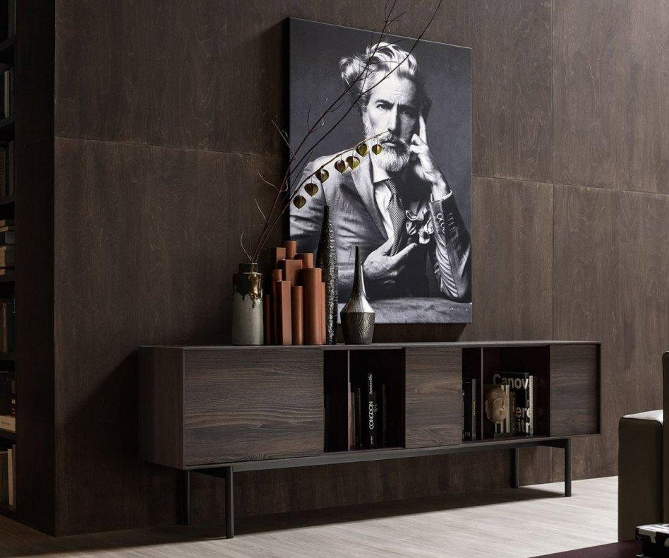 Novamobili Design Sideboard Reverse mit Korpus in Eichen-Holzoptik veredelt