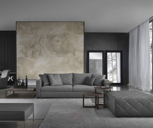 Exklusives Marelli Design Sofa Gordon gesteppt