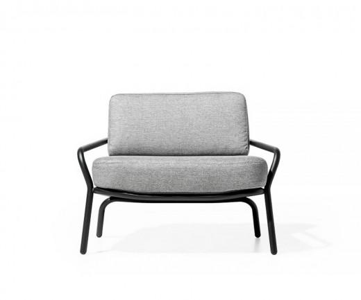 Todus Starling Design Veranda Sessel mit weißem Stoffbezug