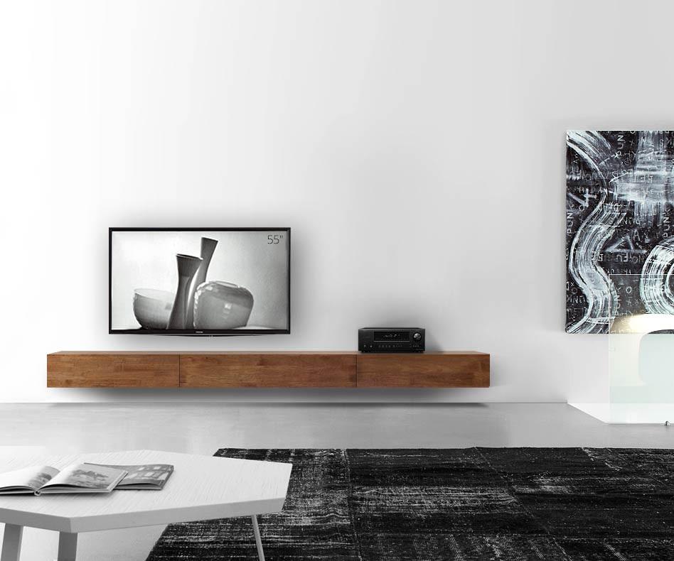 Moderner Livitalia Massivholz Design Lowboard Konfigurator in Eiche geölt