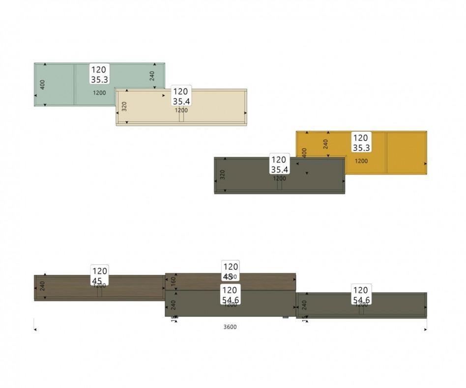 Tetris Wohnwand C20 von Livitalia
