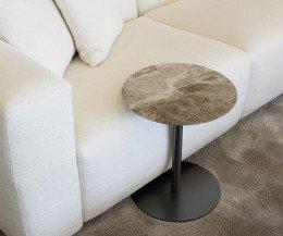Marelli Perfetto Marmor Braun Designer Beistelltisch am Sofa